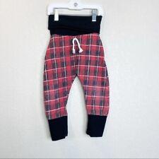Hazel Bleu Handmade Buffalo Plaid Joggers Pants size 18-24 Month Unisex