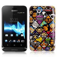 Hardcase für Sony xperia Tipo Dual St21i bunte Gesichter Etui Hülle Schutzcase