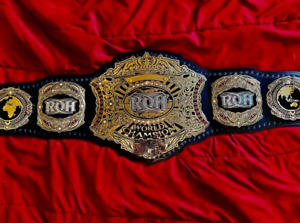 ROH Ring Of Honor World Championship Wrestling Title Belt Zinc Brass Leather