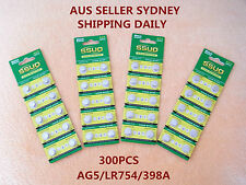 300x AG5/LR754/398A Button Cell Coin JAPAN STD Alkaline Battery 1.55V  Watch Toy