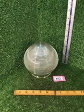 Vintage Holophane Type Glass Acorn Pendant Globe Industrial Steampunk Lamp Shade