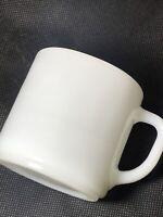 Federal Milk Glass Coffee Mug Plain White Heat Proof Made in USA