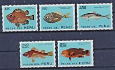 Peru 851/55 postfrisch / Fische (6783) .........................................