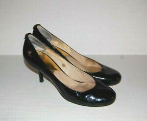 MICHAEL KORS Black PATENT LEATHER High Heels PUMPS Shoes size 7 1/2