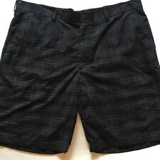 Ben Hogans golf  Performance shorts 40 X 10 poly fast dry black white plaid
