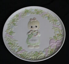 Vtg Precious Moments Plate 1997 Cane You Join Us for a Merry Christmas In Box
