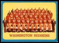 1963 Topps Team Card Redskins #169 *Noles2148*