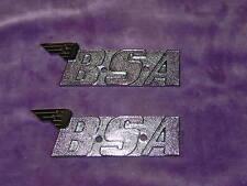 BSA TANK BADGES PAIR 60-2568  A50 A65 A70 OIF 1971 BSA FURY