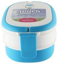 Pioneer Double Decker Air Tight Food Lunch Sandwich Box, 1.7L, Blue