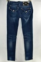 Miss Me Jeans Skinny Stretch Blue Jeans Tag Size 27 Womens Meas. 28x33.5 Flap