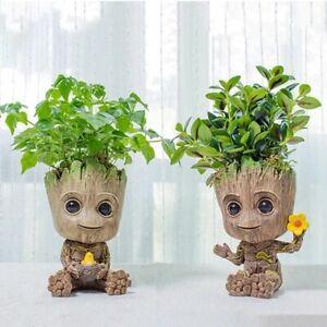 2pcs Creative Home Decoration Accessories Flower Pot Pen Holder Cute Tree Toy