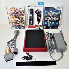 Nintendo Wii Mini Limited Edition 8GB Red Console + Games +Pro pack mini remote
