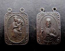 Medalla religiosa NUESTRA SEÑORA DEL CARMEN VIRGEN plata medal religious silver