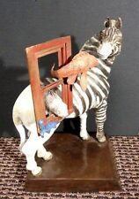 "Glen Tarnowski ""Yin & Yang"" Hand Signed Zebra Bronze sculpture Make and Offer!"