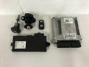 BMW E90 E91 E92 E93 325D 2007 - 2010 M57N2 ENGINE ECU KIT WITH LOCKS KEY DME CAS