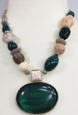 CHICO'S SHORT GREEN PENDANT NECKLACE