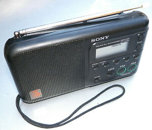 SONY ICF-M200 PLL SYNTHESIZED PORTABLE AM/FM RADIO RECEIVER VERY NICE WORKING!!