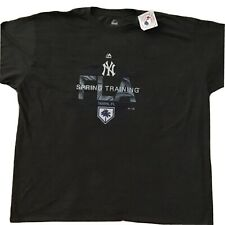 Majestic New York Yankees NWT Mens Sz 5xl Spring Training Florida T-shirt Gray