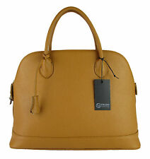 borsa da donna grande elegante vera pelle made in italy bugatti ispired cammello