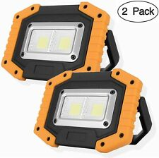 New listing 2 Cob 30W 1500Lm Led Work Light, Rechargeable Portable Waterproof Led Floo