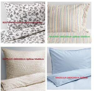 NEW GENUINE IKEA Duvet Quilt Cover Pillowcase 240X220CM AND 200X200CM UK