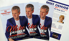 3 X MIKE DENVER 2014 TOUR FLYERS - THE GALWAY BOY PHILOMENA BEGLEY IRISH COUNTRY