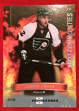 2007-08 Fleer Hot Prospects # 155 Simon Gagne White Hot Commodities 07/10 Flyers