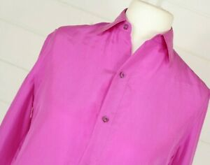 RALPH LAUREN Collection Silk Shirt M US4 Made In USA Wedding Christmas Party