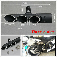 Aluminum 51mm Exhaust Pipe Three-outlet Tail Pipe For Motorcycle Exhaust System