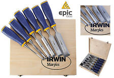 "IRWIN Marples 6 Piece MS500 Metal Capped Wood Chisel Set 1/4"" To 1-1/4"",10503430"