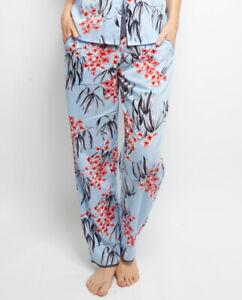 Cyberjammies Pyjama Pants Women Olivia Leaf Print Pyjama Pant Blue