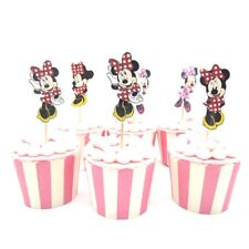 48pc MINNIE MOUSE Polka dot Cupcake Toppers  Party Favors,, girls love