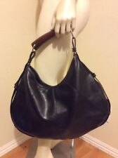 FASHION EXPRESS BLACK FAUX LEATHER PURSE HANDBAG HOBO