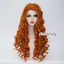 Lolita 80CM Long Orange Curly Hair Women Girls Fashion Halloween Cosplay Wig