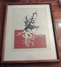 "Tamara Sprague 79 Bowman Lake 1/19 Trees Lake Natural Artist art print 21"" X 17"""
