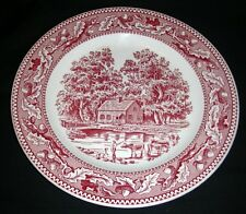 "Vintage ROYAL CHINA MEMORY LANE Pink 10"" Dinner Plate"