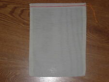 25 (8x10) Cotton Muslin Red Hem and Orange Drawstring Bags