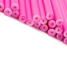 x 100 114mm 4mm Rose Coloré Plastique Sucette Gâteau Pop Bâtons Artisanats