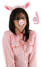 Pig Ears Headband & Nose & Tail Adult Child Kids Accessory Costume Kit Set Elope