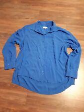 Anne L  Bluse in einem tollen blau Langarm Gr. 46 Viskose