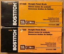 (LOT OF 2) Bostitch BT1350B Straight Finish Brads, 4000 ct. Painted Brown Heads