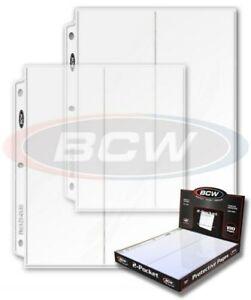 Box / 100 BCW Pro 2 Pocket 4x10 Business Envelope / Pamphlet Album Pages sheets