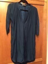 Isabel Marant Etoile S/M Teal Blue Silk Long Sleeve Dress Tunic # 1289
