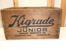 Vintage HIGRADE Junior Wood Crate Box~Braddock, Pa.