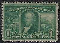 US Stamps - Scott # 323 - 1c Livingston - Mint Light Hinge               (A-444)
