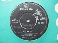 "SOUNDS INCORPORATED William Tell/Bullets UK 7"" Single EX Cond"
