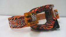 CHRISTMAS MTB Motocross Goggles Wild Black Orange Rip N Roll Roll Offs RG19