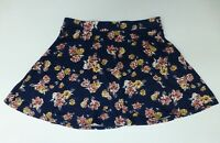 LA Hearts Womens Size L Blue Multi-Color Floral Skirt Great Condition