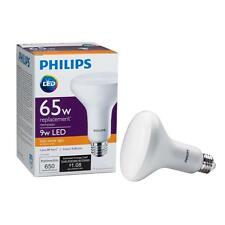 4-Pack Philips 65W Equiv. Soft White BR30 Dimmable LED Light Bulb 459578