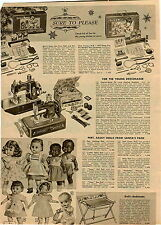 1955 PAPER AD Topsy Boy Black Doll Sunbabe Wetums Vulcan Toy Sewing Machine